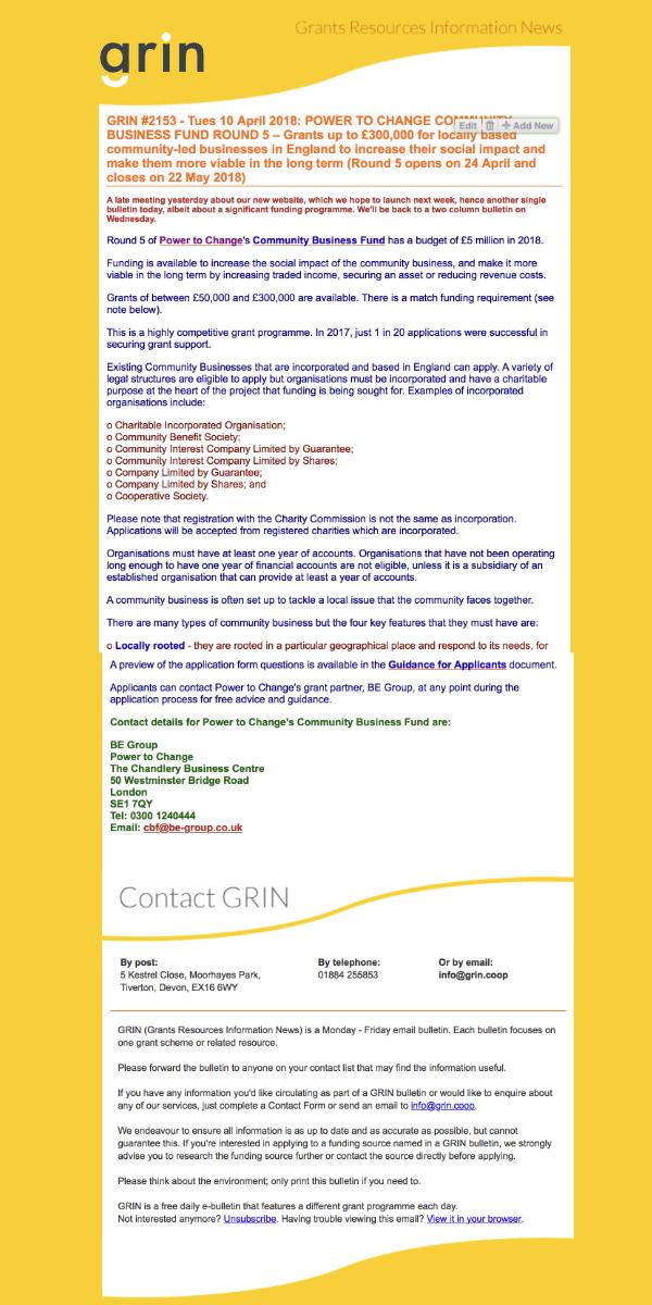 GRIN Newsletter